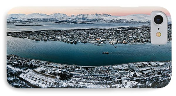 Tromso From The Mountains Phone Case by Dave Bowman