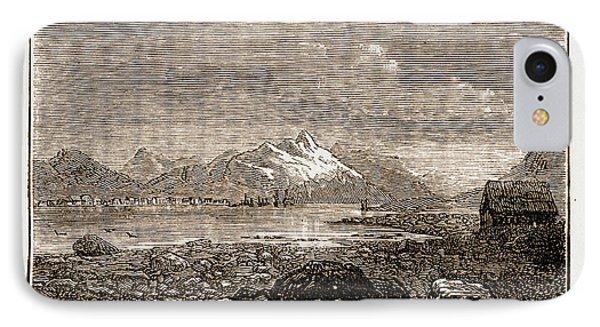 Tromsoe, Norway Engraving 1873 IPhone Case