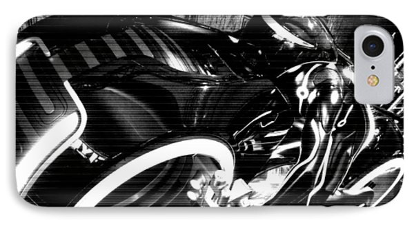Tron Motor Cycle Phone Case by Michael Hope