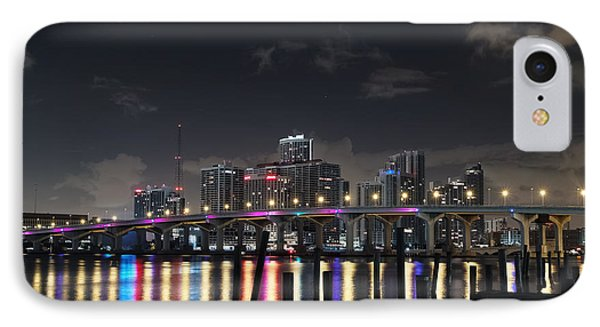 IPhone Case featuring the photograph Trooper Bridge Miami by Gary Dean Mercer Clark