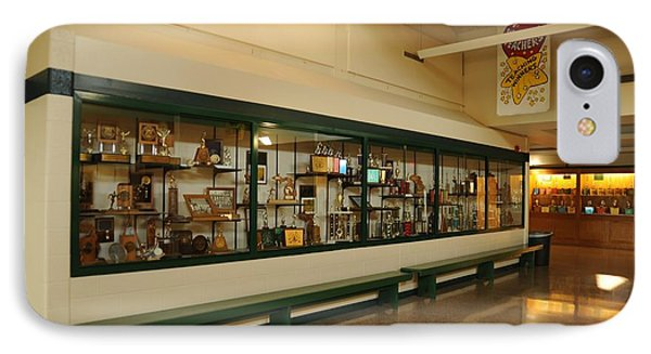 Trophy Case At Clare High School IPhone Case by Terri Gostola