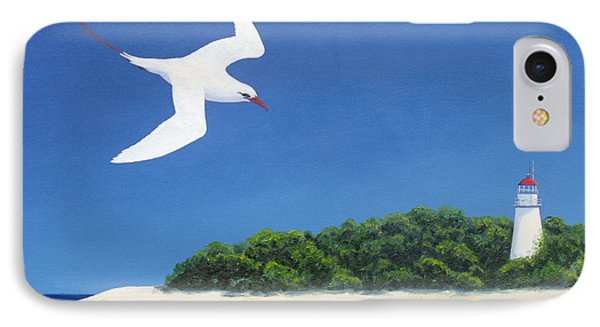 Tropic Bird And Light House IPhone Case