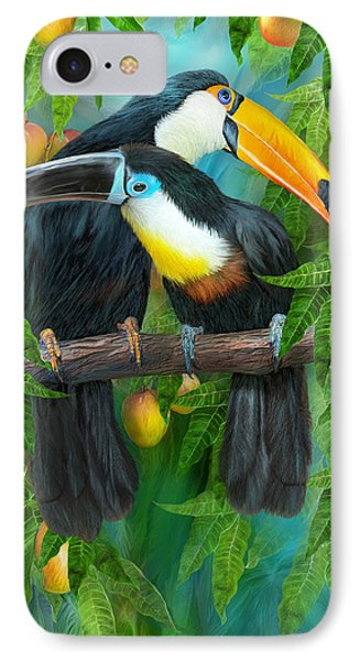 Tropic Spirits - Toucans IPhone 7 Case by Carol Cavalaris