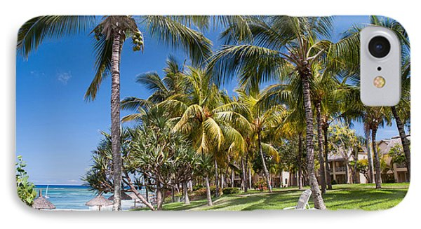 Tropical Beach I. Mauritius Phone Case by Jenny Rainbow