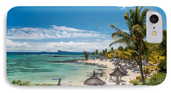 Tropical Beach II. Mauritius Phone Case by Jenny Rainbow