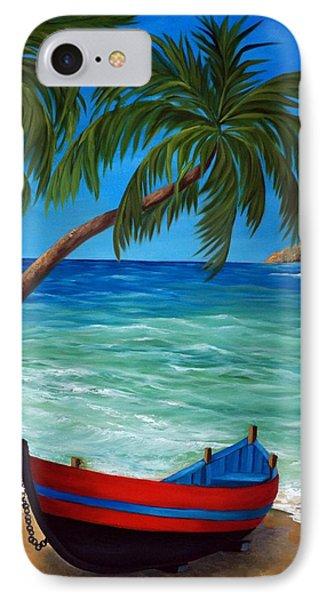 Tropical Beach IPhone Case by Katia Aho