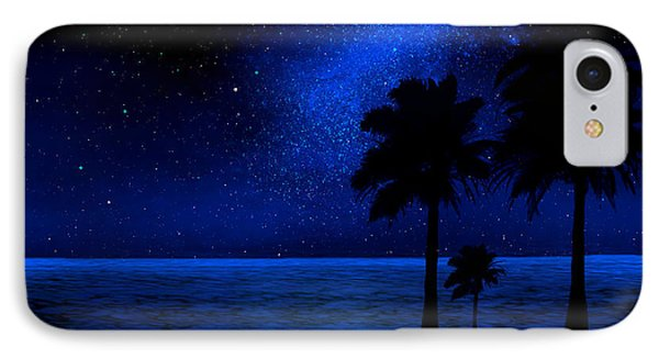 Tropical Beach Wall Mural IPhone Case by Frank Wilson