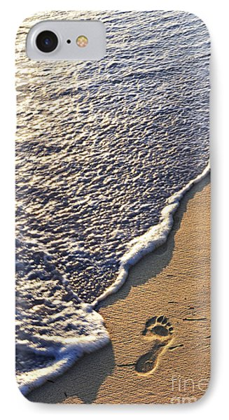 Tropical Beach With Footprints IPhone Case by Elena Elisseeva