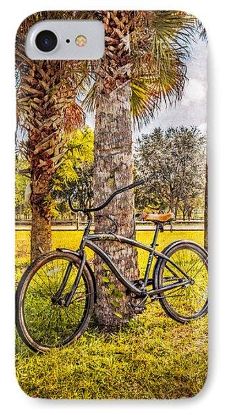 Tropical Bicycle Phone Case by Debra and Dave Vanderlaan