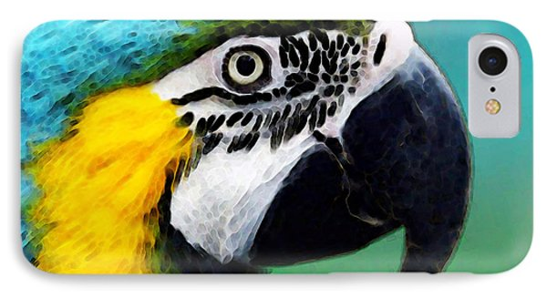 Tropical Bird - Colorful Macaw IPhone Case by Sharon Cummings