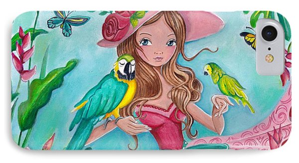 Tropical Bird Love IPhone Case by Caroline Bonne-Muller