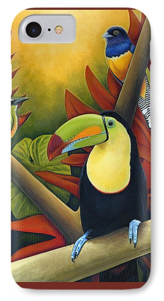 Toucan iPhone 7 Case - Tropical Birds by Nathan Miller