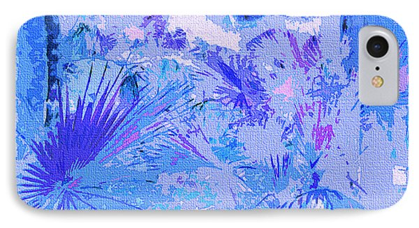 Tropical Blue IPhone Case by Ann Johndro-Collins