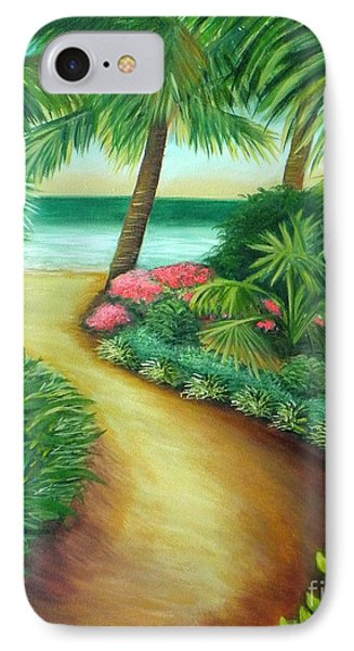IPhone Case featuring the painting Tropical Breezes by Shelia Kempf