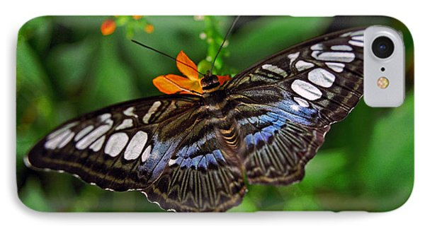 IPhone Case featuring the photograph Tropical Butterfly by Marie Hicks