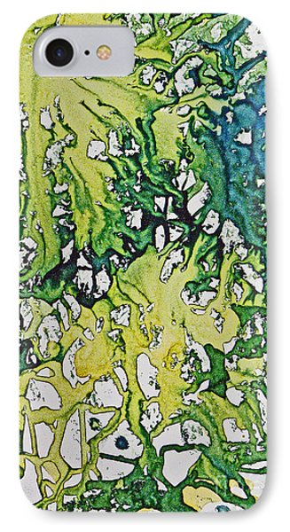 IPhone Case featuring the painting Tropical Confusion by Joan Hartenstein