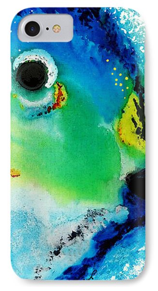 Tropical Fish 2 - Abstract Art By Sharon Cummings IPhone Case by Sharon Cummings