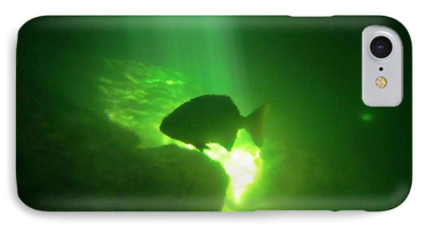 Tropical Fish Shilouette In A Cenote IPhone Case by Halifax photography by John Malone