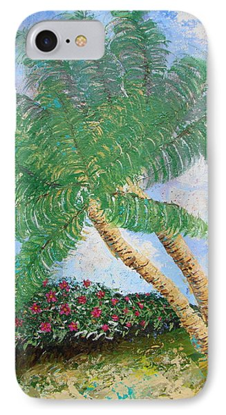 IPhone Case featuring the painting Tropical Flair by Margaret Bobb