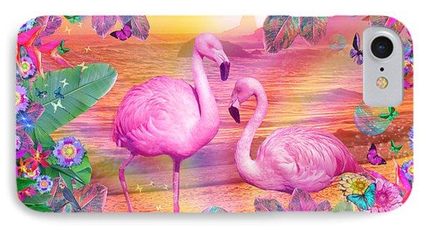 Tropical Flamingo IPhone Case by Alixandra Mullins
