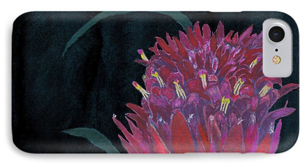 IPhone Case featuring the mixed media Tropical Flower by C Sitton
