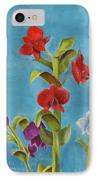 IPhone Case featuring the painting Tropical Flower by Thomas J Herring