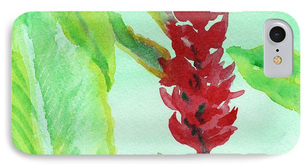 IPhone Case featuring the painting Tropical Flowers 2 by C Sitton
