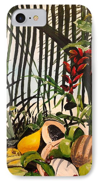 IPhone Case featuring the painting Tropical Fruit by Alan Lakin