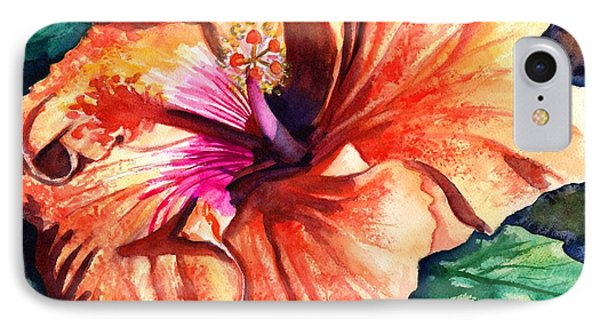 Tropical Hibiscus IPhone Case by Marionette Taboniar
