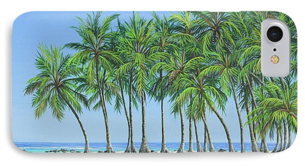 IPhone Case featuring the painting Tropical Lagoon by Jane Girardot