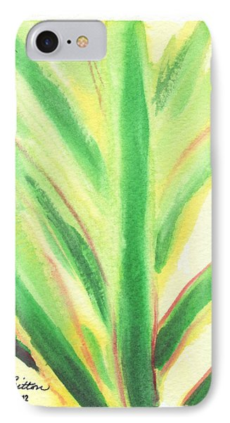 IPhone Case featuring the painting Tropical Leaf by C Sitton