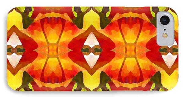 Tropical Leaf Pattern  12 Phone Case by Amy Vangsgard