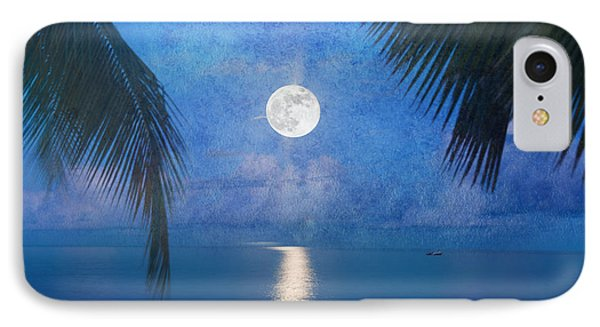 Tropical Moonglow IPhone Case by Betty LaRue