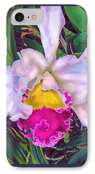 Tropical Orchid Phone Case by Jane Schnetlage