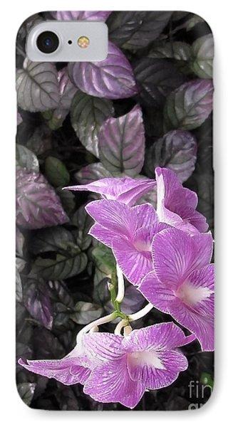 Tropical Orchids IPhone Case by Ellen Cotton
