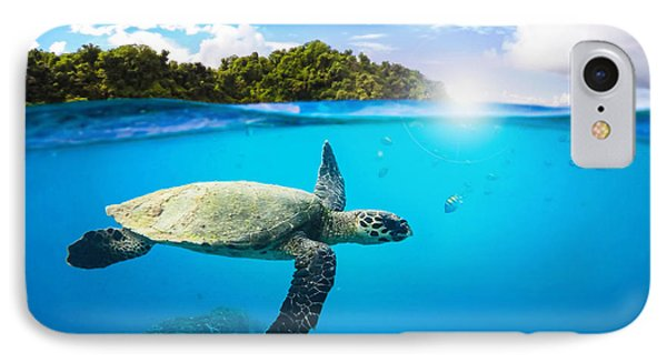 Turtle iPhone 7 Case - Tropical Paradise by Nicklas Gustafsson
