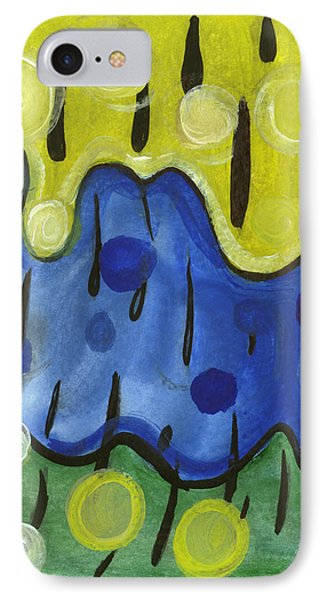 IPhone Case featuring the painting Tropical Rain by Stephen Lucas