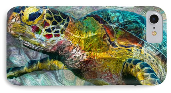 Tropical Sea Turtle IPhone Case by Jack Zulli