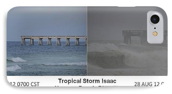 Tropical Storm Isaac Difference In A Day Phone Case by Jeff at JSJ Photography