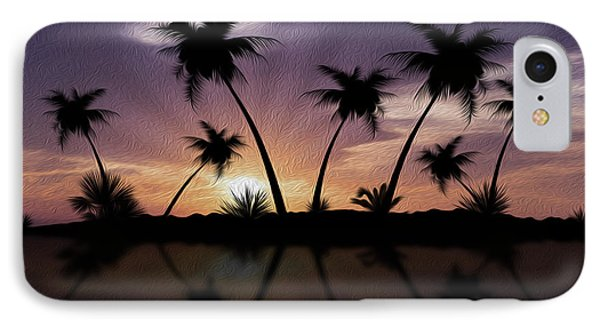 Tropical Sunset Phone Case by Aged Pixel