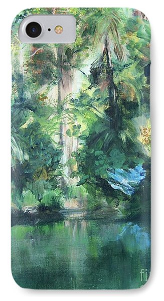 IPhone Case featuring the painting Tropical Treasure by Mary Lynne Powers