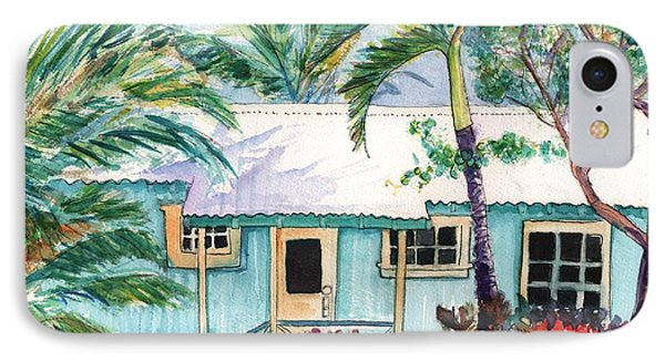 Tropical Vacation Cottage IPhone Case by Marionette Taboniar