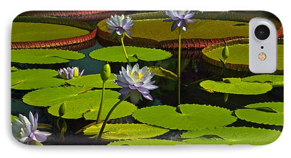 Tropical Water Lily Flowers And Pads Phone Case by Byron Varvarigos