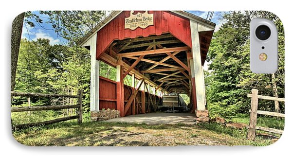 Trostle Town Covered Bridge IPhone Case by Adam Jewell