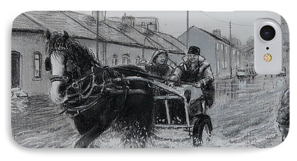Trotting Thro The Floods Limerick 2014 Phone Case by Tomas OMaoldomhnaigh