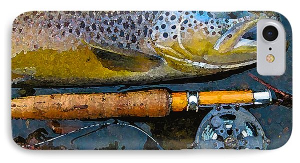 Trout On Fly IPhone Case by Lina Tricocci