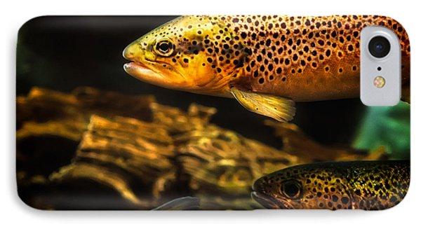 Trout Swiming In A River Phone Case by Bob Orsillo