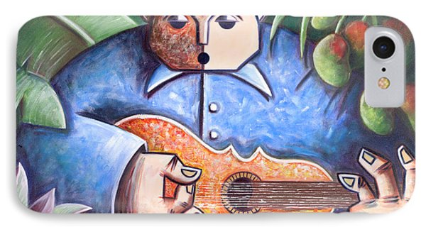 Trovador De Mango Bajito IPhone Case by Oscar Ortiz