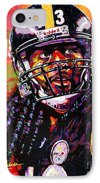 Troy Polamalu Phone Case by Maria Arango