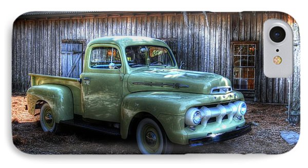 IPhone Case featuring the photograph Truck By The Barn by Donald Williams
